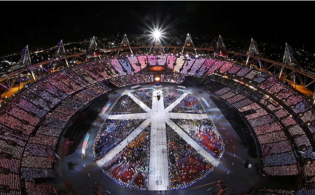 A general view of the closing ceremony of the London 2012 Olympic Games at the Olympic Stadium