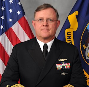 This image provided by the U.S. Navy shows Navy Vice Adm. Tim Giardina in a Nov. 11, 2011, photo. The U.S. strategic Command, the military command in charge of all U.S. nuclear warfighting forces says it has suspended its No. 2 commander, Giardina, for unspecific reasons, and he is under investigation by the Naval Criminal Investigative Service. (AP Photo/U.S. Navy)