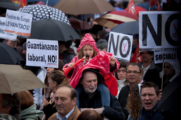 Spanish Unions Protests Planned Government Cutbacks