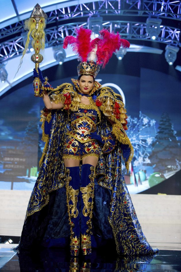 Miss Peru Faveron performs onstage at the 2012 Miss Universe National Costume Show at PH Live in Las Vegas