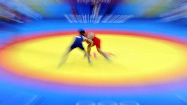WRESTLING Russian wrestler in the Olympic final