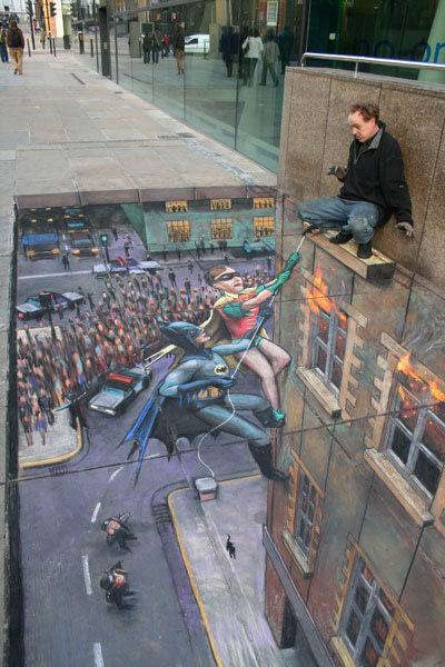 Julian Beever Sidewalk Painting…