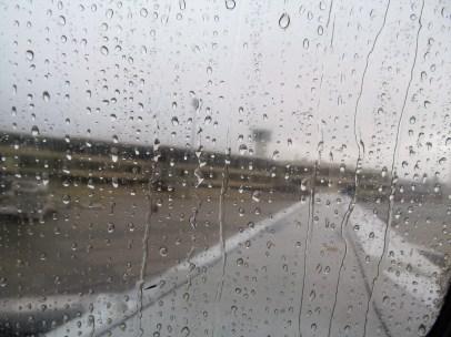 Rainy welcome in Santo Domingo