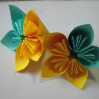 Tutorial: How to glue an Origami Kusudama flower