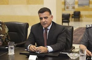 Major General Abbas Ibrahim, head of Lebanon's Directorate of General Security, attends an urgent security meeting in Beirut