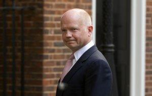 Britain's Foreign Secretary, William Hague, leaves…