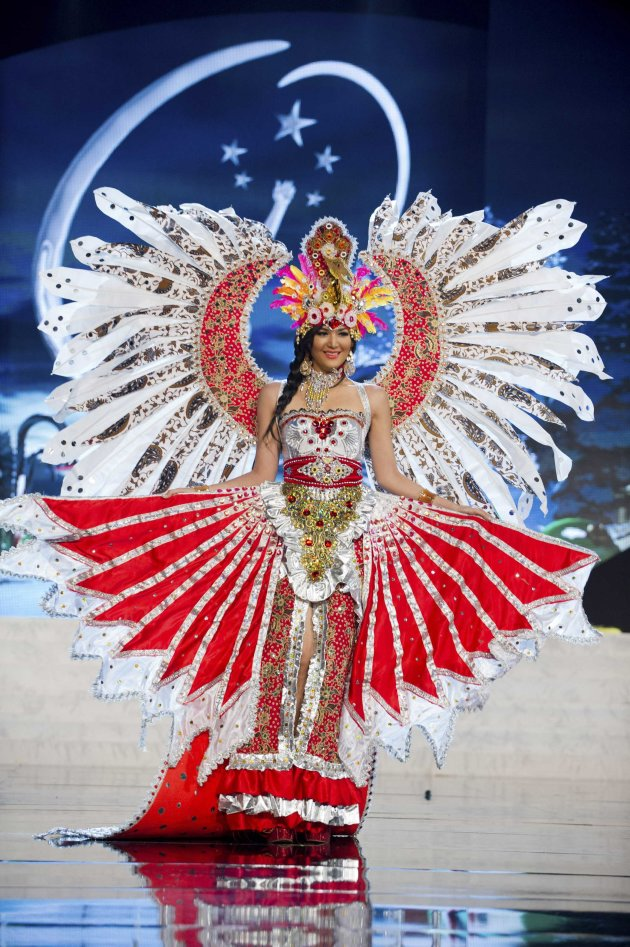 Miss Indonesia Selena performs onstage at the 2012 Miss Universe National Costume Show at PH Live in Las Vegas