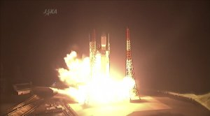In this photo taken from video Japan's H-2B rocket …