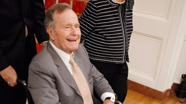 George H.W. Bush Fighting Fever in ICU (ABC News)