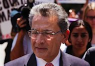 Former Goldman Sachs Group Inc board member Rajat Gupta leaves Manhattan Federal Court following a guilty verdict in his trial in New York in this June 15, 2012 file photo. The sentencing on October 24, 2012 of fallen Wall Street titan Gupta for insider trading could come down to whether a judge agrees that his lifetime of charity counts against sending him to prison. Gupta's lawyers have requested that he be spared prison, citing his work with groups such as the Bill & Melinda Gates Foundation on fighting disease in developing countries. Federal prosecutors, however, argue that Gupta should serve eight to 10 years in prison. REUTERS/Lucas Jackson/Files
