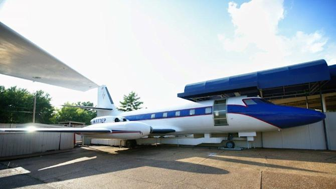 """This undated photo shows the """"Hound Dog II"""" on display at Graceland in Memphis, Tennessee"""