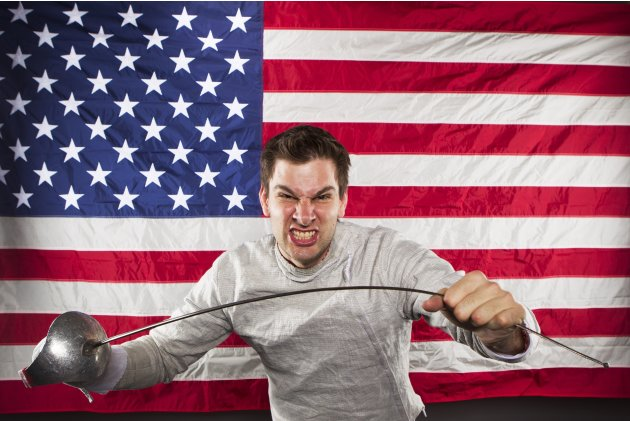 Fencer Tim Morehouse poses for a portrait during the 2012 U.S. Olympic Team Media Summit in Dallas