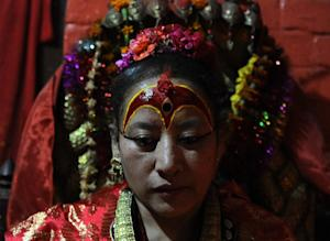Dhana Kumari Bajracharya was enthroned in 1954 when …