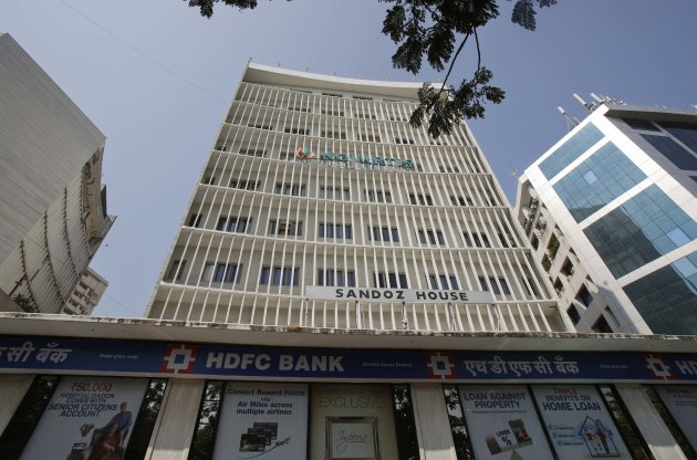 A general view shows a HDFC Bank branch and office in Mumbai