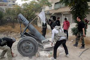 Opposition fighters from the Thu Al-Nurein brigade…