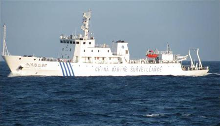 A Chinese marine surveillance ship is seen offshore of Vietnam's central Phu Yen province May 26, 2011 and released by Petrovietnam in this May 29, 2011 file handout photo. REUTERS/Handout/Files
