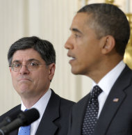 <p>               FILE - This Jan. 9, 2012, file photo shows then-Budget Director Jack Lew listening as President Barack Obama speaks in the State Dining Room of the White House in Washington. Lew, the current White House chief of staff  is President Barack Obama's expected pick to lead the Treasury Department, with an announcement possible before the end of the week.  (AP Photo/Susan Walsh, File)