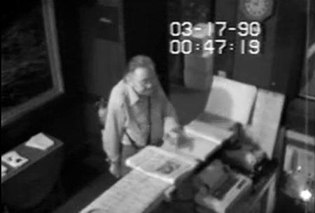 Security footage shows unidentified man allegedly being allowed inside the Isabella Stewart Gardner Museum in Boston before 1990 theft