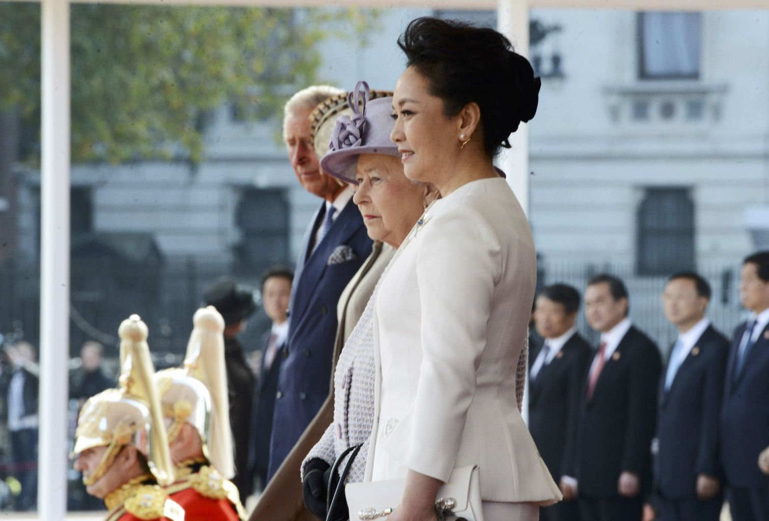 ... Xi's official welcome ceremony in central London, Britain October 20