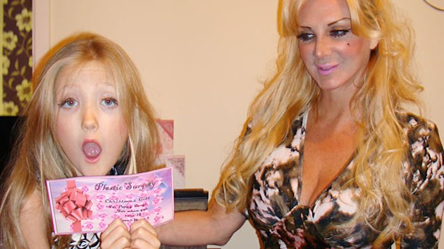 'Human Barbie' Gives 7-Year-Old Daughter Liposuction Voucher (ABC News)