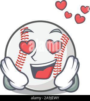 Download With heart baseball bat character cartoon Stock Vector ...