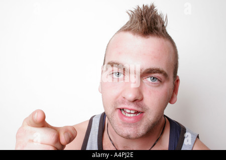 angry man with sneer on his face stock photo royalty free image alamy
