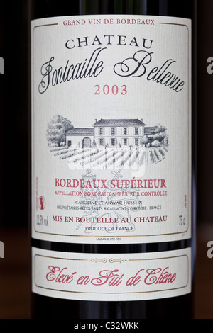 A Bottle Of French Red Wine Grand Vin De Bordeaux Moulin
