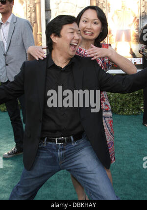 Ken Jeong And Wife Tran Ho The Los Angeles Premiere Of