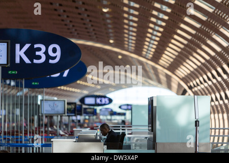 The F Terminal Gates At Charles De Gaulle CDG Airport In
