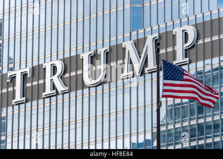 Image result for trump tower chicago american flag