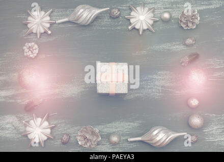 Frame For Congratulations With New Year And Christmas In