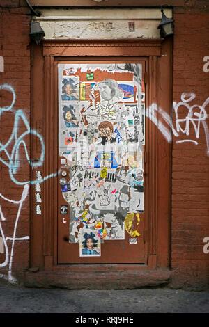 Graffiti Collage Street Art In Shoreditch East London Stock Photo Alamy