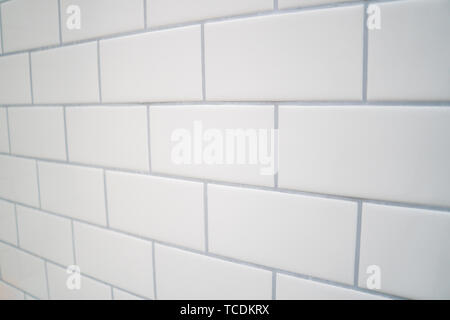 https www alamy com white subway tile with gray grout image248621966 html