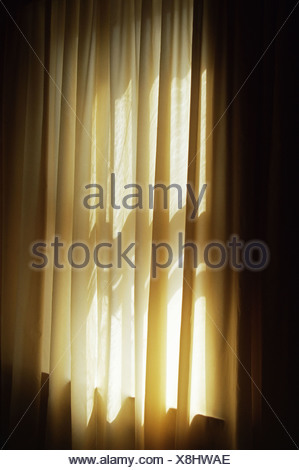 A Closed Curtain Stock Photo
