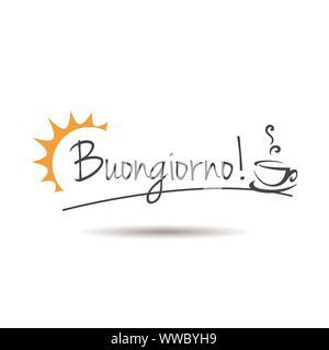 italien buongiorno est bon matin