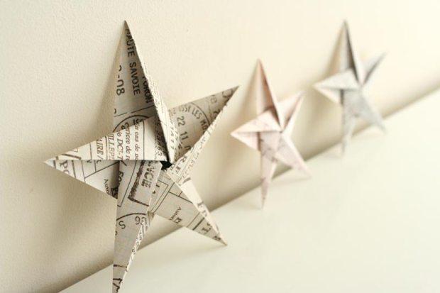 étoile en origami