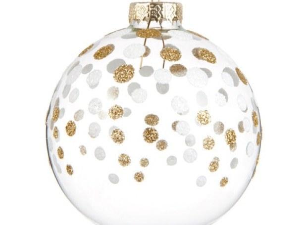 Boule de Noël en verre dorée 8 cm PÉPITES