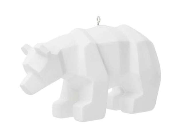 Déco ours polaire pour sapin L 11 cm SNOW