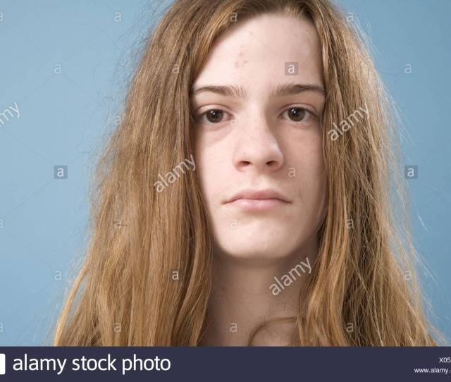 Teen Boy With Long Hair