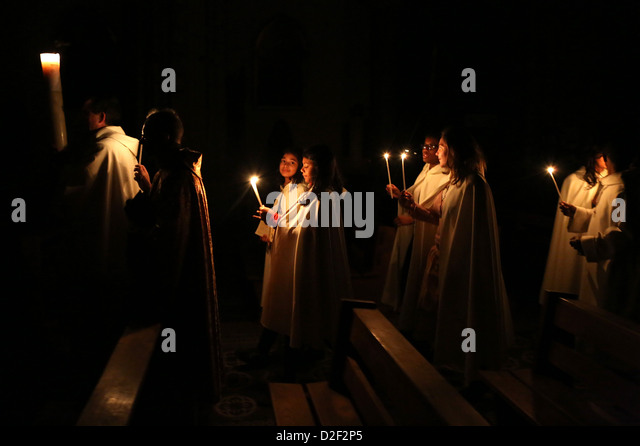 Image result for easter vigil in santo domingo church, quezon city