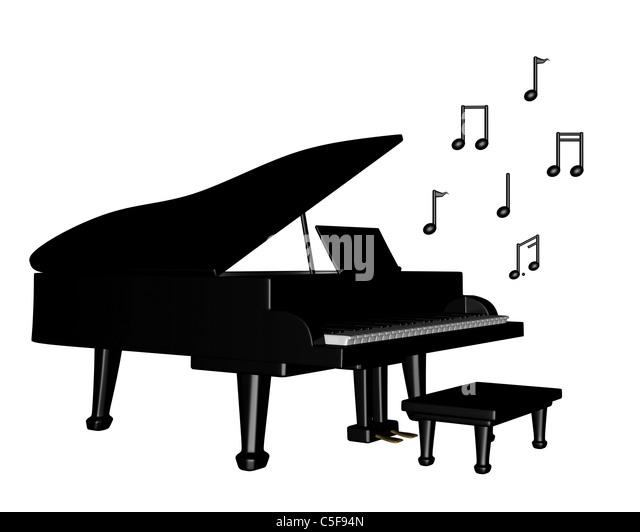 Music Stool Piano Stock Photos & Music Stool Piano Stock