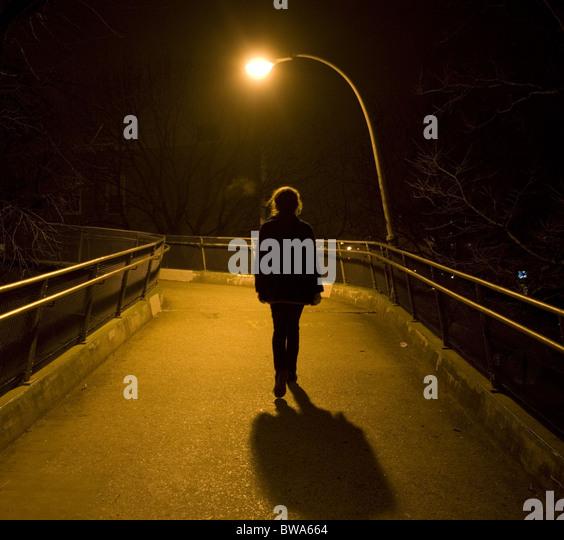 Woman Walking Dress Silhouette