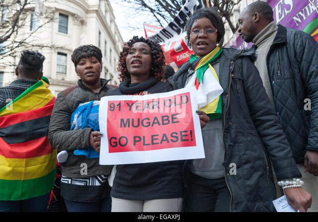 Image result for Thousands of protesters take to the streets chanting'Robert Mugabe must go'