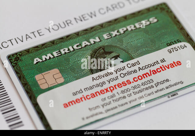 American express green card pay online infocard amex credit card stock photos images alamy reheart Image collections