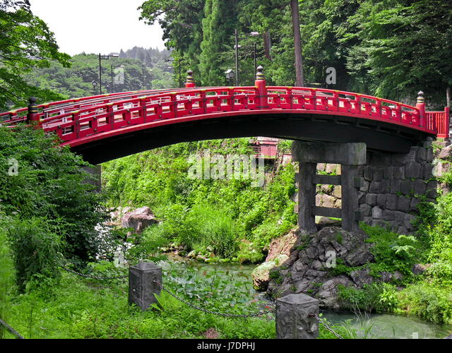 High Arch Foot Bridge Japanese Garden Bridge 727506 Red Lawn