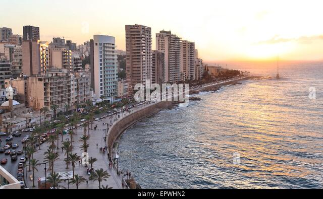 Coastline Corniche Beirut Lebanon Stock Photos Amp Coastline