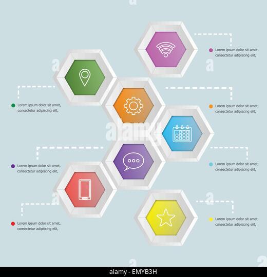 3d Hexagon Template  abstract 3d hexagon business options