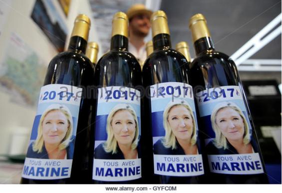 Image result for Marine Le Pen drinking wine