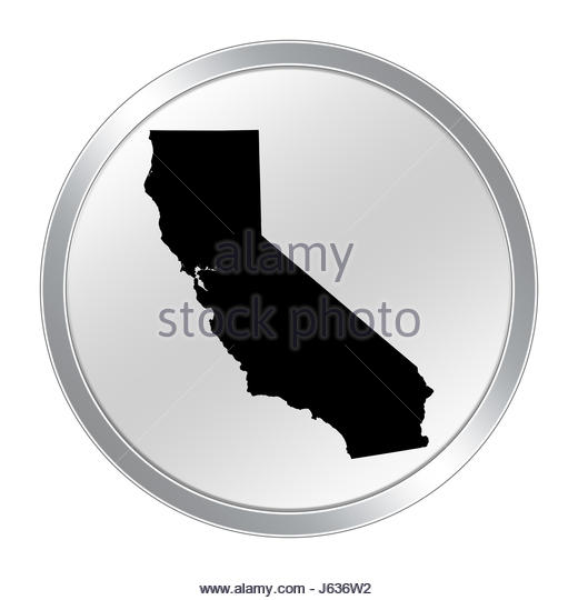 California State Map Cut Out Stock Images   Pictures   Alamy California map button   Stock Image