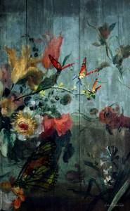 Butterfly Garden Fineart by La Aurelia